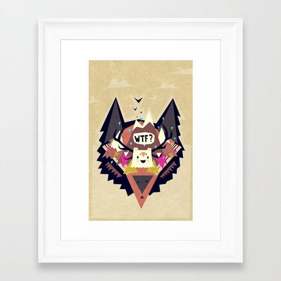 Triangle dream Framed Art Print