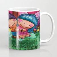 Love Angel - Fun, sweet, unique, creative and very colorful, original, acrylic children illustration Mug