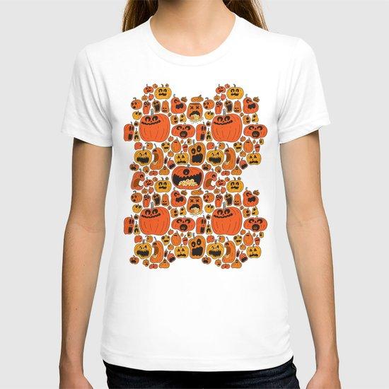 Pumpkin Pattern T-shirt