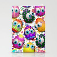 Cute Easter Eggs Cartoon… Stationery Cards