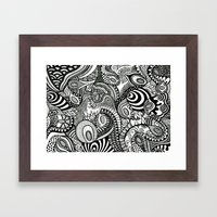 Loopy Framed Art Print