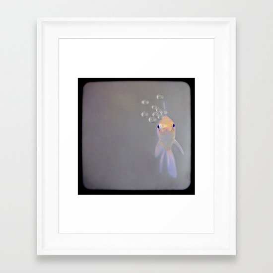 You looking at me, fishy?  Framed Art Print