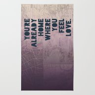 Rug featuring Home II by Leah Flores