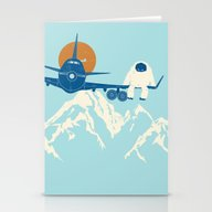 Stationery Cards featuring Hitchin' A Ride by Jay Fleck