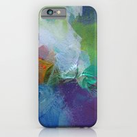 iPhone Cases featuring Paint Dance by Christine Scurr