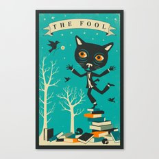 TAROT CARD CAT: THE FOOL Canvas Print