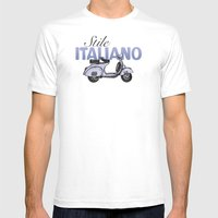 Stile Italiano Mens Fitted Tee White SMALL