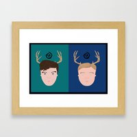 Rust & Marty from True Detective Framed Art Print
