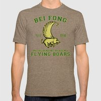 Bei Fong Academy Flying Boars (Black) Mens Fitted Tee Tri-Coffee SMALL