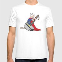 The Catty Thor Mens Fitted Tee White SMALL