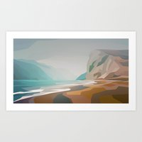 Cliffs - Misty Art Print