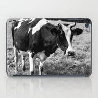 Black And White Cow iPad Case
