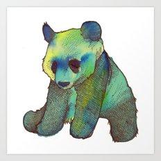 Watercolor Panda Art Print