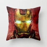 Throw Pillow featuring Iron Man by SachsIllustration