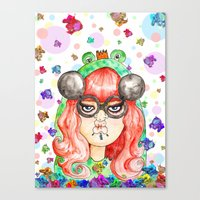 Miss Frog Canvas Print