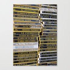 Paris Flea Market Books Canvas Print