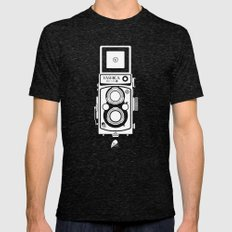 Yashica MAT 124G Mens Fitted Tee Tri-Black SMALL