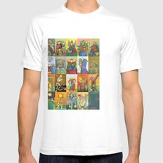 Tarot of Marseilles Mens Fitted Tee SMALL White