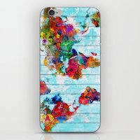 Woodside World Map iPhone & iPod Skin