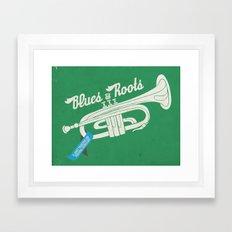 blues n roots Framed Art Print