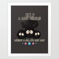 HELP A SOOT GREMLIN Art Print