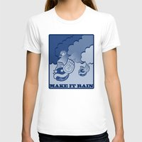 Make It Rain Womens Fitted Tee White SMALL