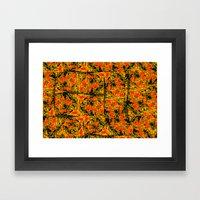 Golden Red  Framed Art Print
