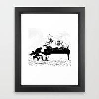 Pianist Passion Framed Art Print