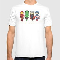 Super Cute Heroes: Avengers! Mens Fitted Tee White SMALL