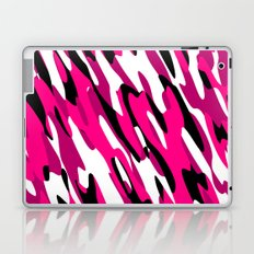 Black White and Pink Camo Laptop & iPad Skin