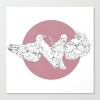 In Which Scribbly Birds … Canvas Print