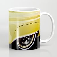 Yellow Vintage Ford Thunderbird Car Mug