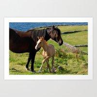 Horses In Landscape Art Print
