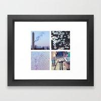 Squares #1: Berlin / Winter Framed Art Print