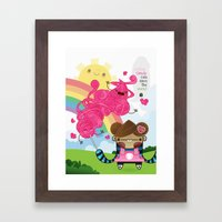 Cotton Candy Can Save Th… Framed Art Print