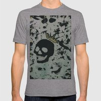 Last Laughing Skull Mens Fitted Tee Athletic Grey SMALL