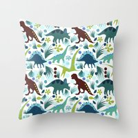 Dinosaur Days Throw Pillow