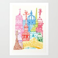 Oxford Towers  Art Print