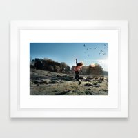 Touch the sky and Fly Framed Art Print