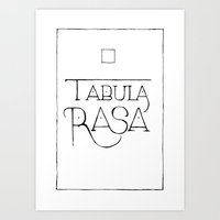 Tabula Rasa Art Print