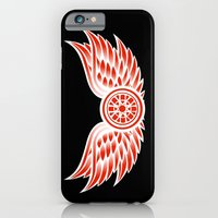 iPhone & iPod Case featuring Detroit Red Wings by CLFFW