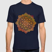 MANDALA I Mens Fitted Tee Navy SMALL