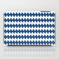 jaggered and staggered in monaco blue iPad Case
