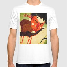 Raging Bull White Mens Fitted Tee SMALL