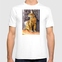 Cat Charlie Mens Fitted Tee White SMALL