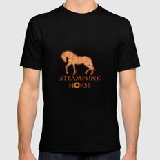 HORSE - Steampunk   Mens Fitted Tee Black SMALL