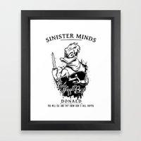 Sinister Minds. Donald Framed Art Print