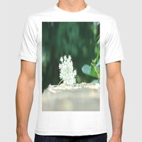 Queen Anne's Lace w/ bokeh Mens Fitted Tee White SMALL