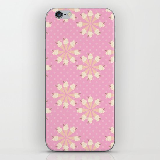 Floral Ice Cream iPhone & iPod Skin