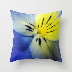 Flower Blue Yellow Throw Pillow